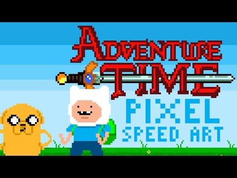 Adventure Time Pixel Speed Art by PXLFLX