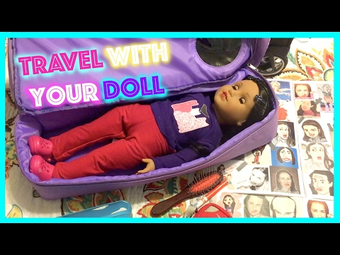 How to Travel with your American Girl Doll | Miranda Sings Live