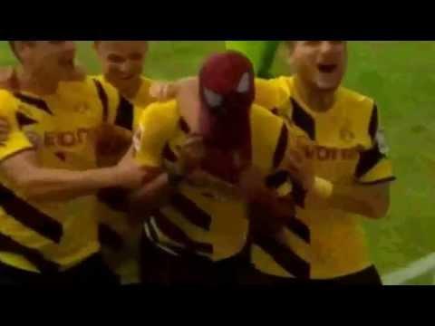 Gol a lo Spiderman de Aubameyang Supercopa alemana 2014  Borussia vs Bayern 2 0