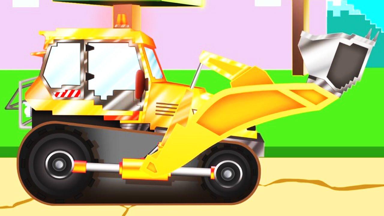 Xe ủi đất | Pipo và xe cứu hộ/ hoạt hình dành cho thiếu nhi giống như Minecraft