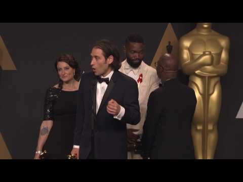"""Barry Jenkins """"Moonlight,"""" Best Picture - Oscars 2017 - Full Backstage Interview"""