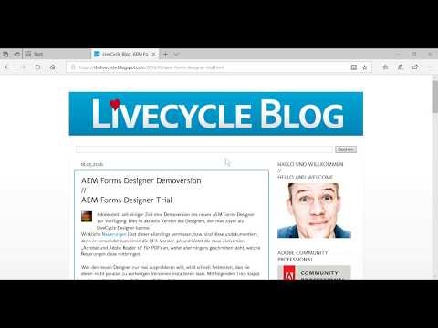 Download AEM / LiveCycle Designer