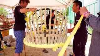 鳥出神社の鯨船行事 北島組 鯨の製作