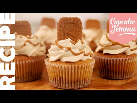 Get The Recipe For Our BEST SELLING Biscoff Cupcake! | Cupcake Jemma