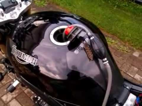 How To Drain Motorcycle Gas Tank Youtube