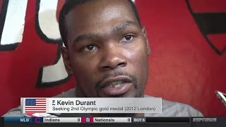 Team USA Basketball 2016 Interview - Kevin Durant, Kyrie Irving & Melo