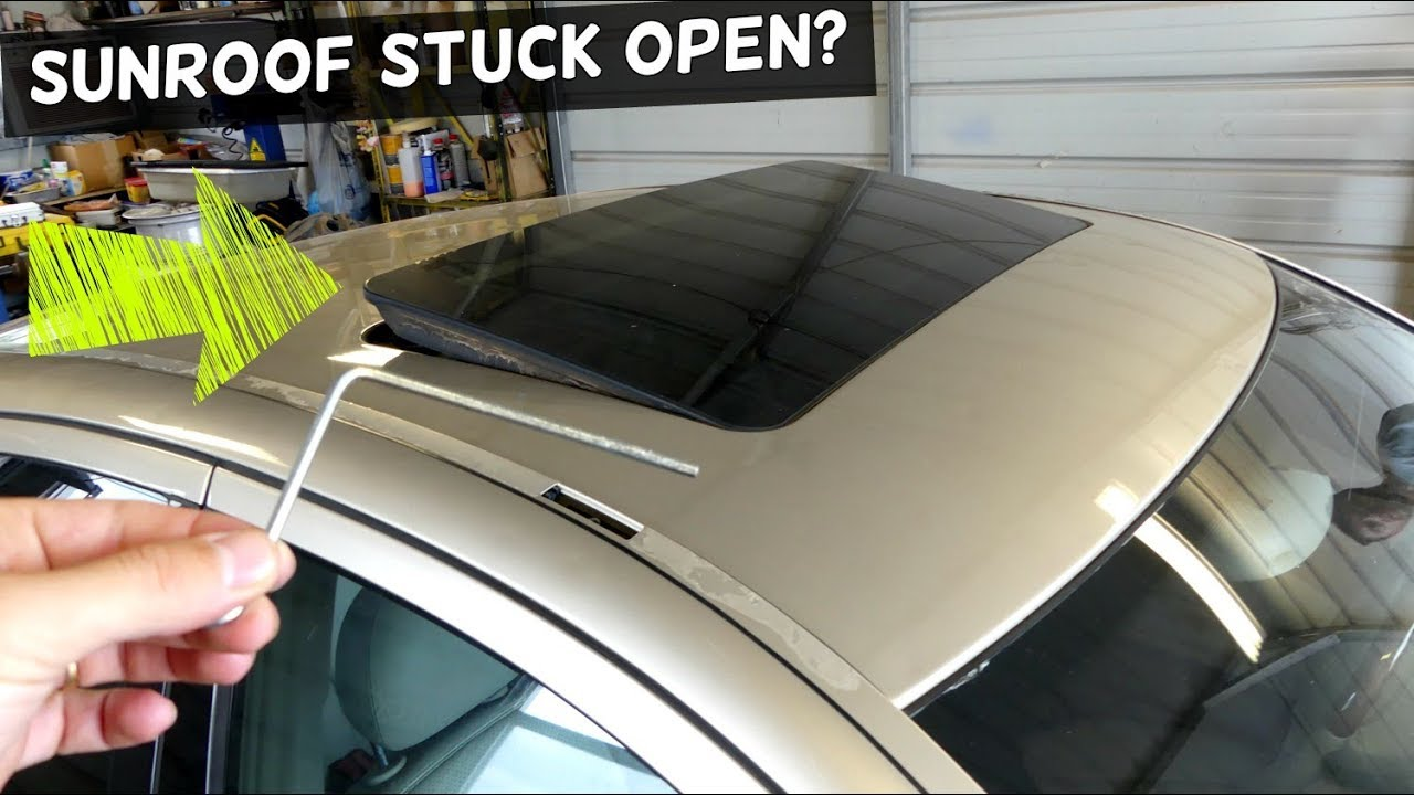 MERCEDES W211 SUNROOF STUCK OPEN HOW TO CLOSE