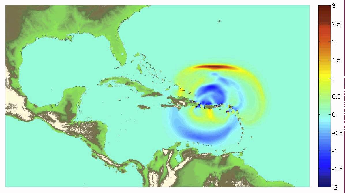 Simulation Of Tsunami From Large Earthquake North Of Puerto Rico