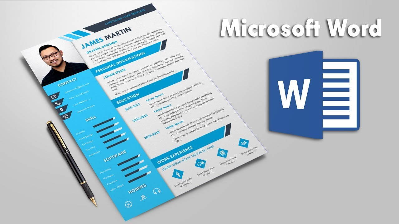 Awesome Resume Template Design in Microsoft Word | CV Template