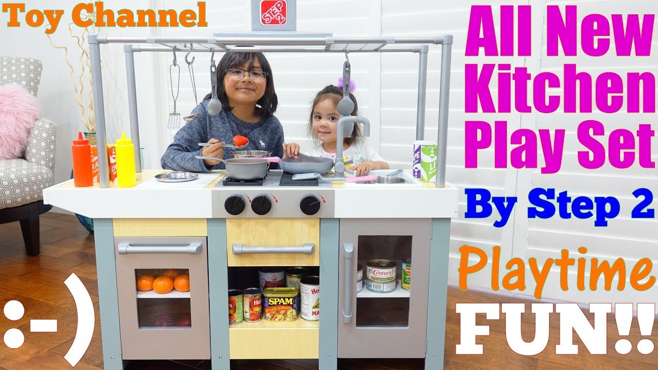 Step 2 Toy Food : Step wooden kitchen playset playtime food cooking