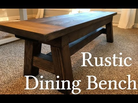 Rustic Dining Bench Inspired By Ana White