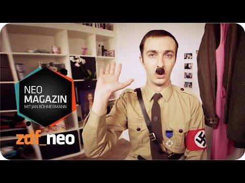HAUL Hitler   BDM-Einkauf - NEO MAGAZIN mit Jan Böhmermann - ZDFneo von YouTube · HD · Dauer:  3 Minuten 17 Sekunden  · 2489000+ Aufrufe · hochgeladen am 05/11/2014 · hochgeladen von ZDFneo