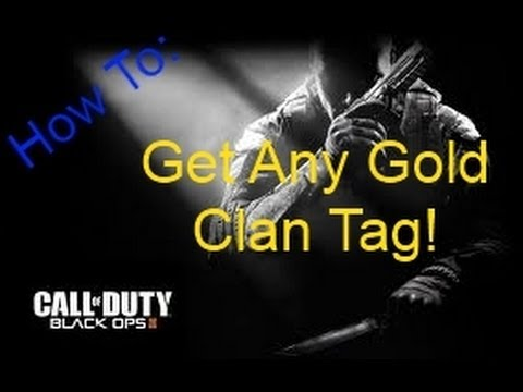 Black Ops II - How To Get Any Gold Clan Tag