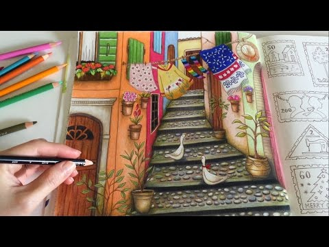 moss-drawing-with-colored-pencils- -happy-village-(part-3)- -romantic-country