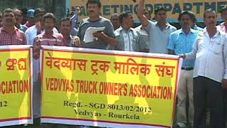 All India Truckers Strike at Rourkela 2