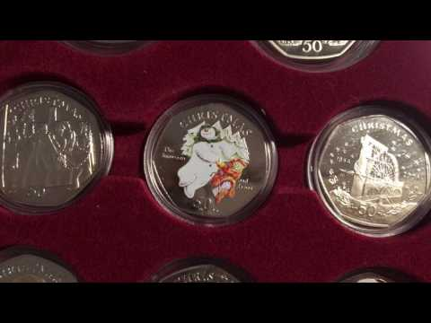 *AMAZING* COMPLETED IOM CHRISTMAS COIN COLLECTION - INCLUDING 03 and 08 snowman - UkCoinHUNT