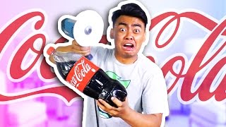 CAN PAPER CUT A COCA COLA BOTTLE?!