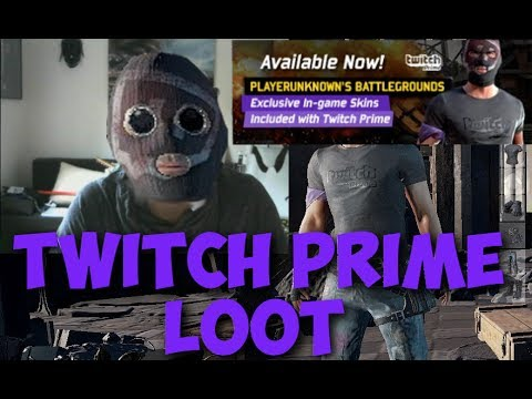 Twitch Prime Loot Skin Showcase - PLAYERUNKNOWN'S BATTLEGROUNDS - YouTube