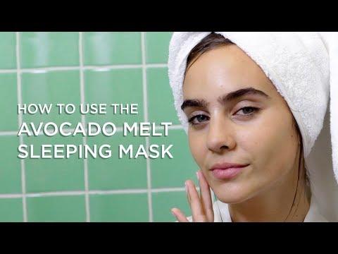 How to Use the Avocado Melt Sleeping Mask    GLOW RECIPE