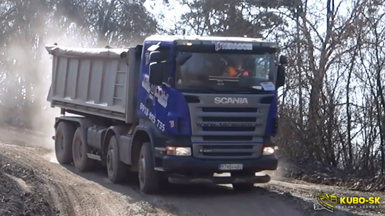 Scania R420 And Mercedes Benz Actros 4144 - Driving At The Quarry