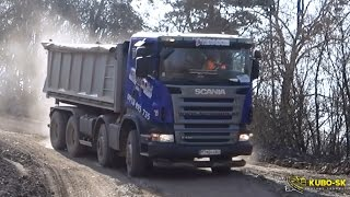 Video Scania R420 and Mercedes Benz Actros 4144 - driving at the quarry download MP3, 3GP, MP4, WEBM, AVI, FLV Desember 2017