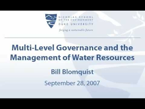 Multi-Level Governance and the Management of Water Resources
