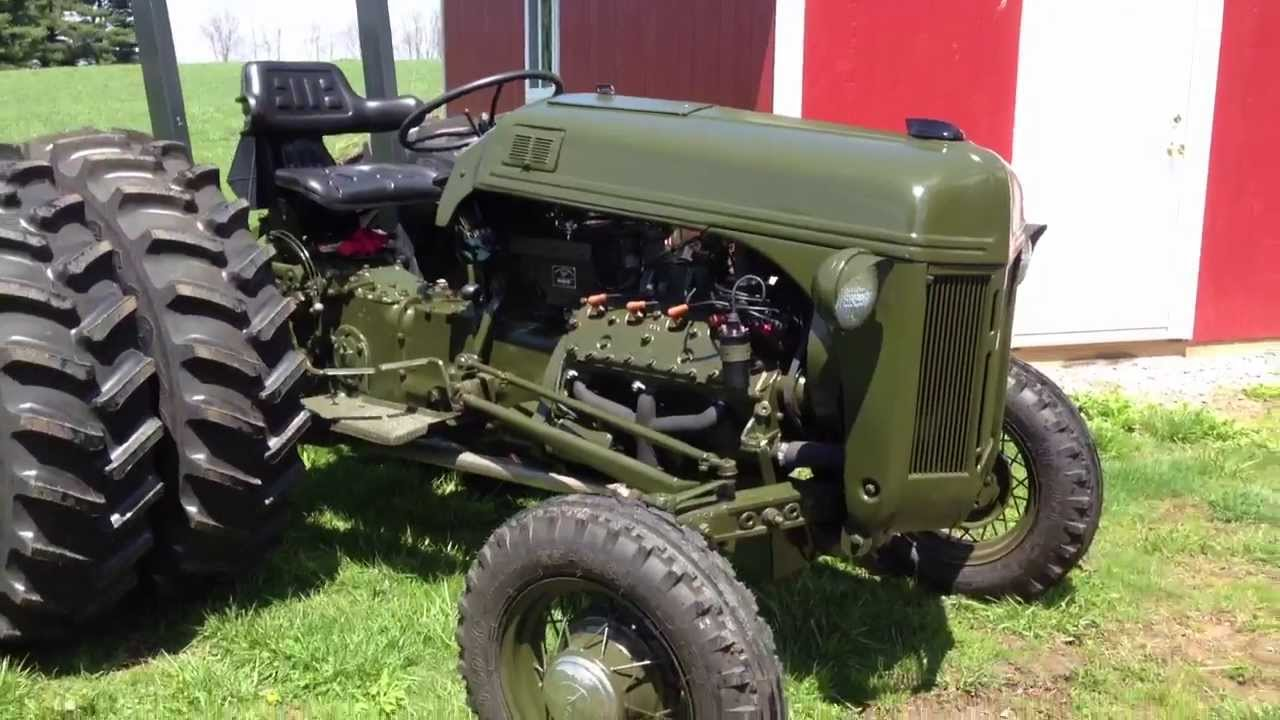 Ford 8n v8 conversion olive drab youtube