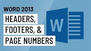 Word 2013: Headers, Footers, and Page Numbers(http://www.GCFLearnFree.org/Word2013 The header is a section of the document that appears in the top margin, while the footer is a section of the document ..., 2013-06-25T19:37:33.000Z)