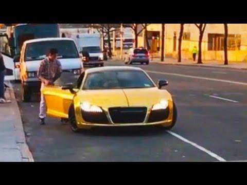 Homeless Man Stealing Audi R8 Social Experiment