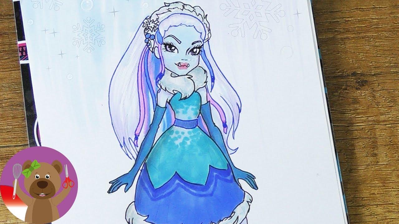 Menggambar Dan Mewarnai Monster High Make Up Monster High Abbey