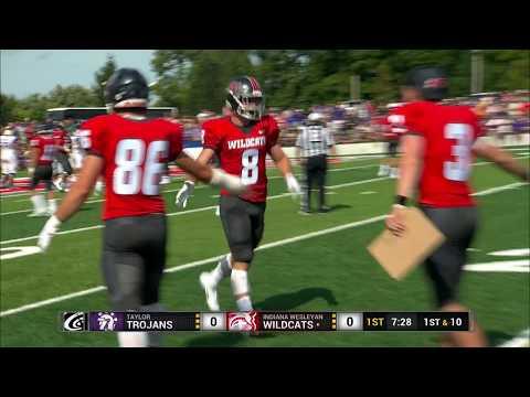 IWU Football vs Taylor Highlights September 1, 2018