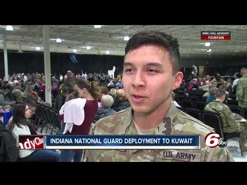 Indiana National Guard members deployed to Kuwait