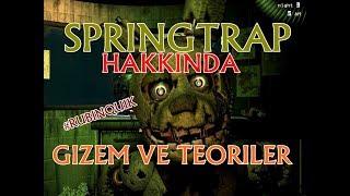 Türkçe - Five Nights at Freddy's 3 - Springtrap Hakkında GİZEMLER - #RubinQuik