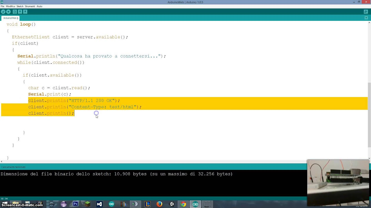 Tutorial 36 - WebServer with Arduino (2 of 4) (Arduino UNO