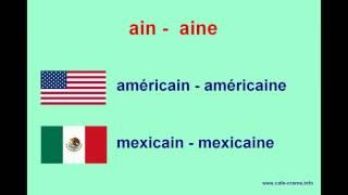 Nationalités  Национальности по-французски