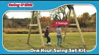 Timber-bilt One-hour Swing Set Kit By Swing-n-slide