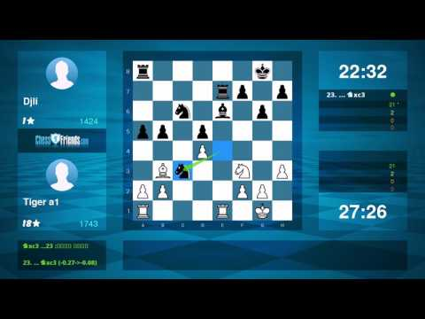 Chess Game Analysis: Tiger a1 - Djli : 1-0 (By ChessFriends.com) - Duur: 9:02.