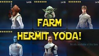 Farm Hermit Yoda ASAP Crazy Ackbar Luke Team | Star Wars: Galaxy Of Heroes -  SWGoH