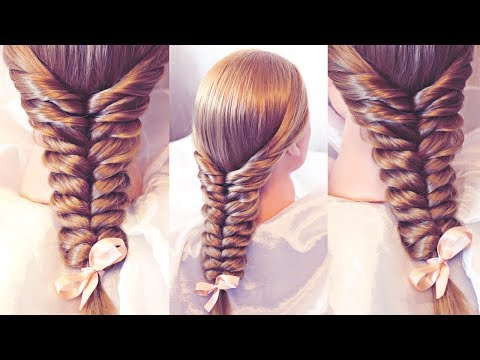 Коса с помощью резинок - Колос - Причёски РЕМ