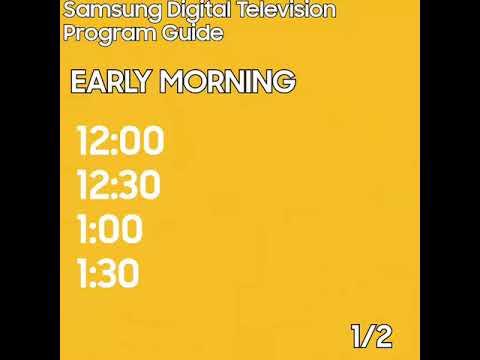 Samsung Digital Television Program Guide For Early Morning (2018 Asian Games, Jakarta Palembang 2018