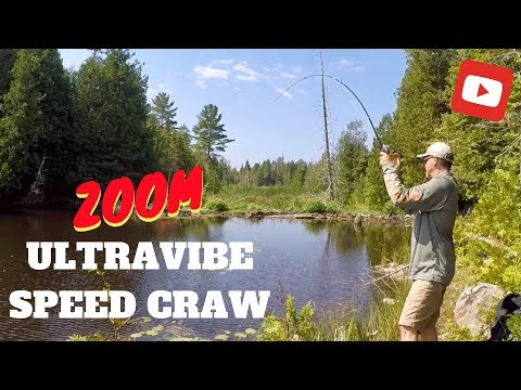 Summer Bass Fishing - Downsizing The Bait With Zoom Ultravibe Speed Craw