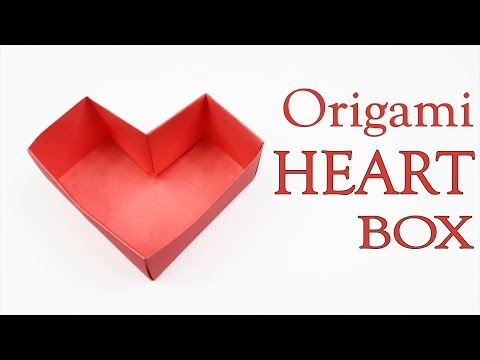 Origami Heart Box - How to Make a Paper Heart Box - Easy Paper Origami