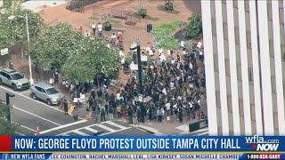 Protests begin in downtown Tampa after mayor lifts curfew