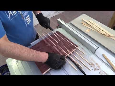 DIY Wood cutting flexible by table saw   طريقة قطع لجعل الخشب مرن