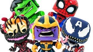 Funko Pop Avengers Toys Appeared Defeat Thanos & Venomized #Toymarvel