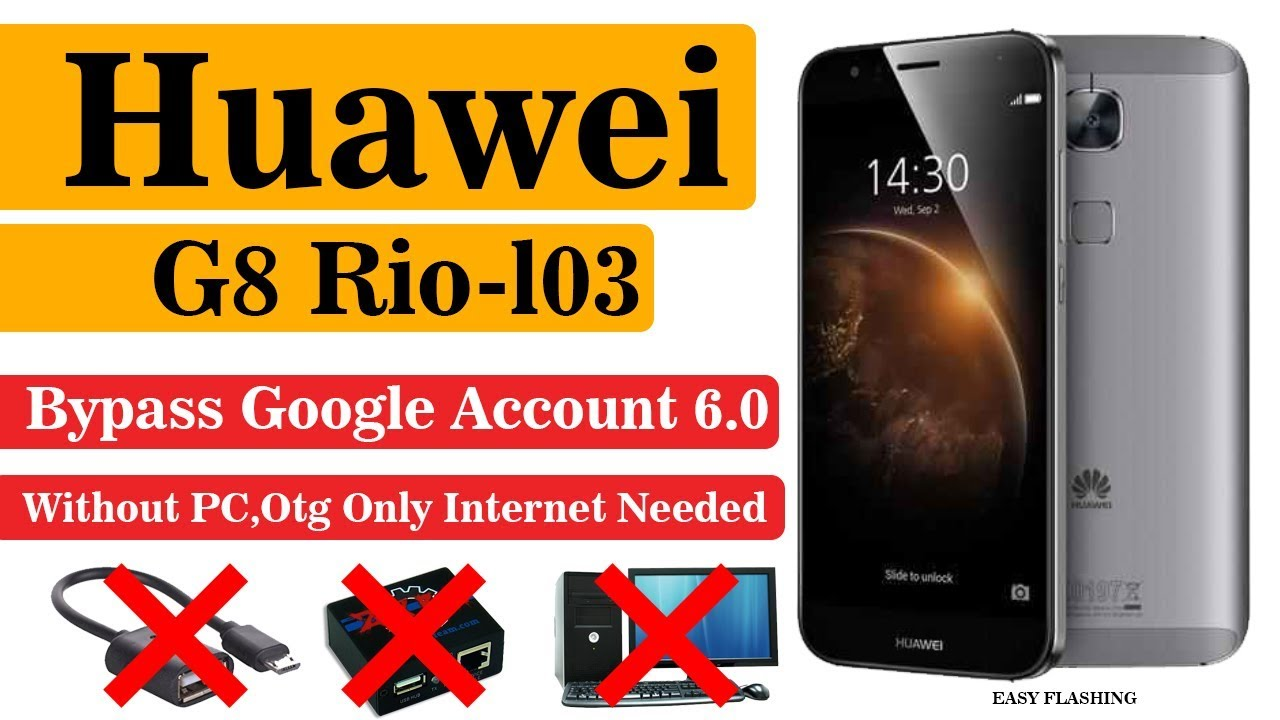 Huawei Rio-l01 Google Account Bypass | Without PC