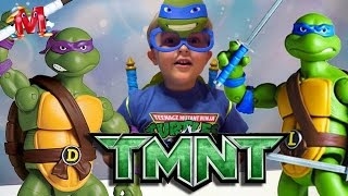 Ниндзя черепашки на канале Hello Mark видео для детей. Teenage Mutant Ninja Turtles  TNMT
