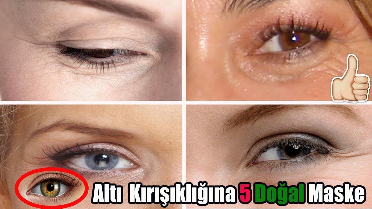 Göz Altı Kırışıklıkları için Maske