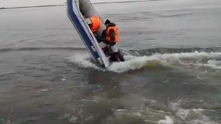 видео моторная лодка