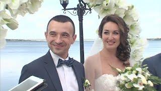 Обряд бракосочетания. Свадьба. Фрагмент свадебного фильма.